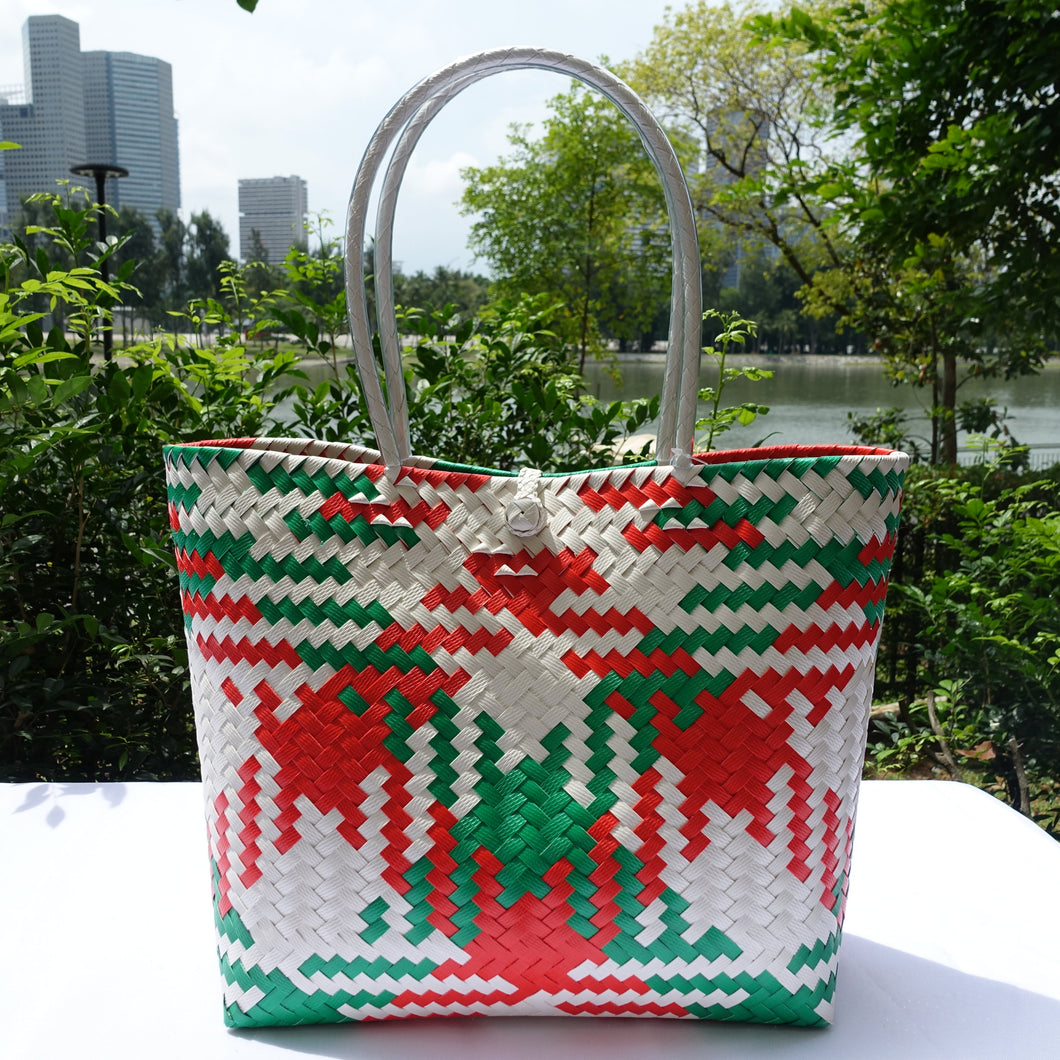 Feeling Festive Handwoven Penan Tote Bag