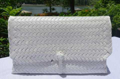 White Penan Clutch Bag