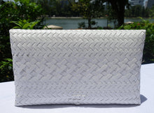 Load image into Gallery viewer, White Penan Clutch Bag
