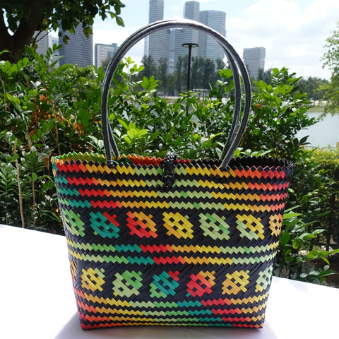 Back to Nature Multi Leaf Penan Tote Bag