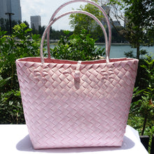 Load image into Gallery viewer, Soft Pink Thick Weave Penan Tote Bag
