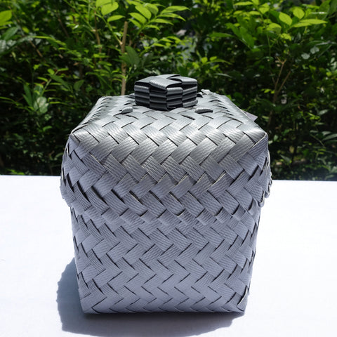 Silver Mini Penan Basket with Lid