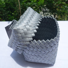 Load image into Gallery viewer, Silver Mini Penan Basket with Lid