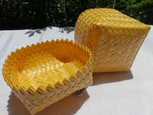 Load image into Gallery viewer, Yellow Mini Penan Basket with Lid