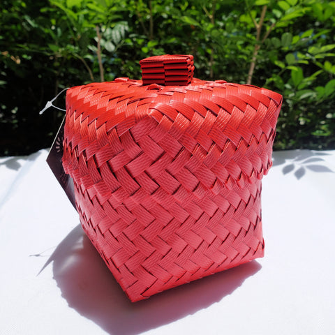Coral Mini Penan Basket with Lid
