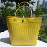 Yellow Handwoven Penan Basket Bag