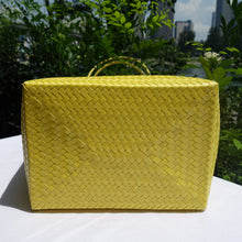 Load image into Gallery viewer, Yellow Handwoven Penan Basket Bag