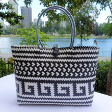 Load image into Gallery viewer, Black & White Treasure Penan Tote Bag