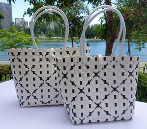White & Black Diamond Penan Tote Bag