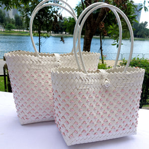 Pink & White Candy Tote Bag