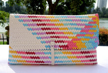 Load image into Gallery viewer, Fine Weave White Rainbow Penan Clutch Bag