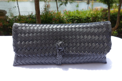 Black Slim Penan Clutch Bag