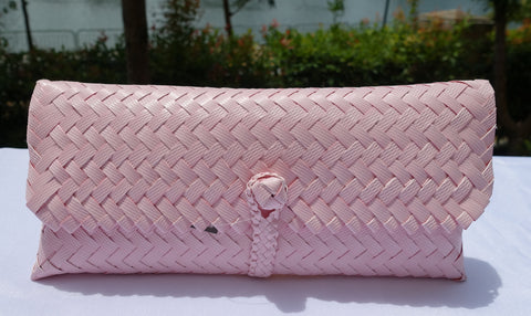 Pastel Pink Penan Slim Clutch Bag
