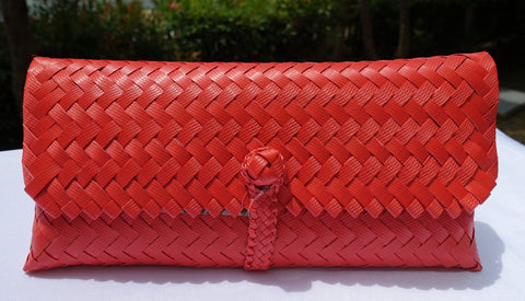 Coral Penan Slim Clutch Bag