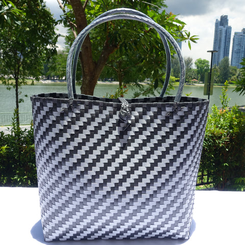 Black & Silver Boutique Penan Tote Bag