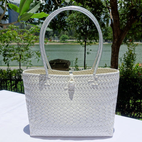 Pure White Penan Tote Bag