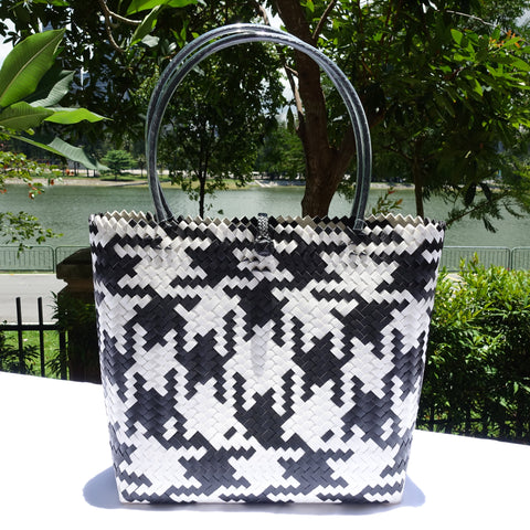 Black & White Charm Penan Tote Bag