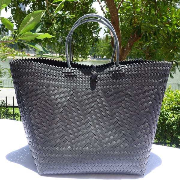 Super Large Black Penan Basket Bag