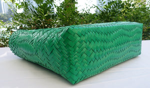 Jade Green Bamboo Handle Penan Tote Bag