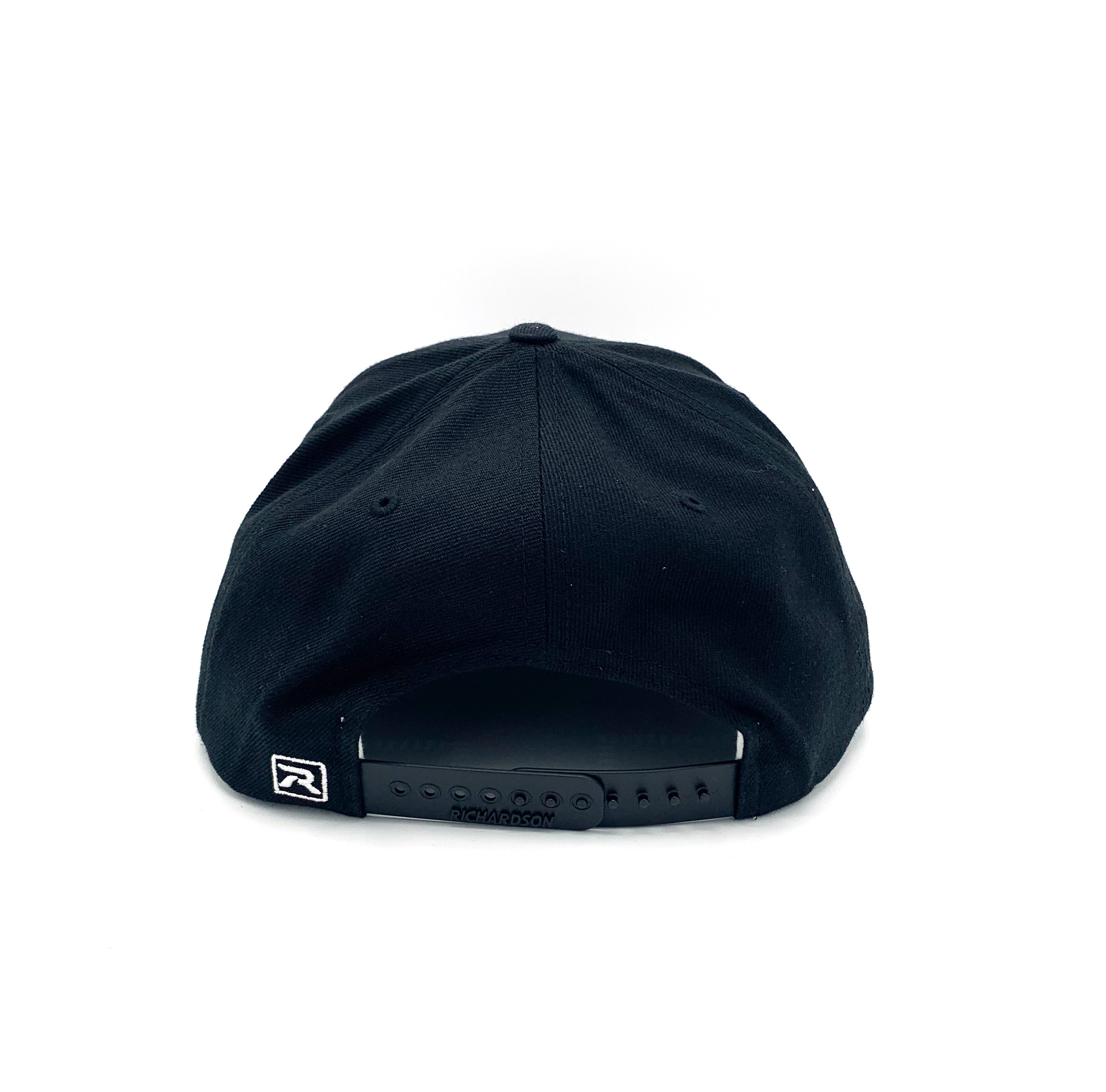 FG Patch Flat Bill Snap Back Hat - Black - Fishing Grounds Coffee Company