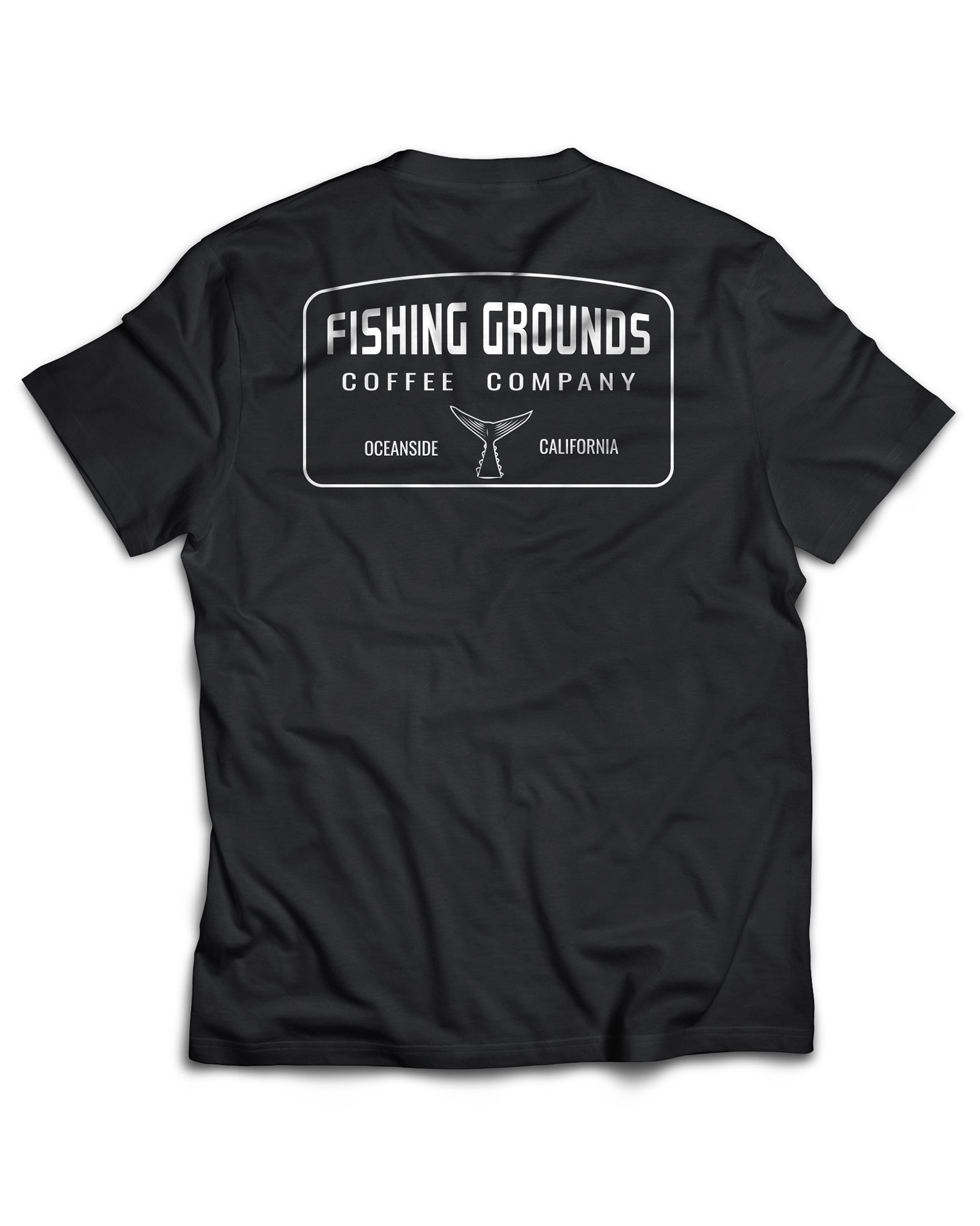 Fishing Grounds Black Logo Tee