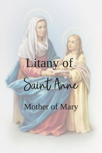 Litany of St Anne, mother of Mary