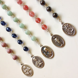 Silver Pocket Rosaries