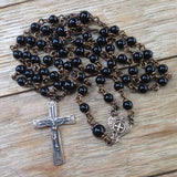 Bronze Rosary with black onyx beads