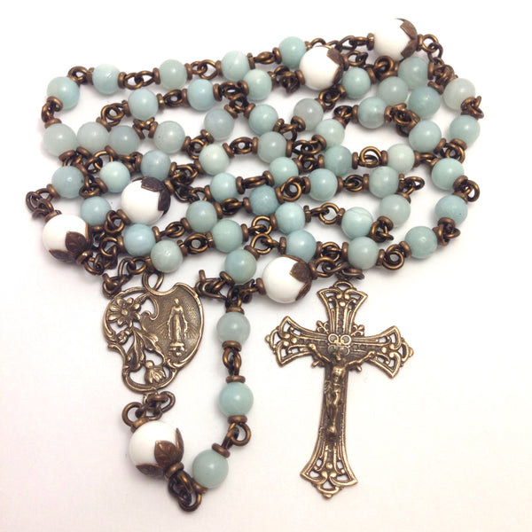 Bronze Amazonite rosary