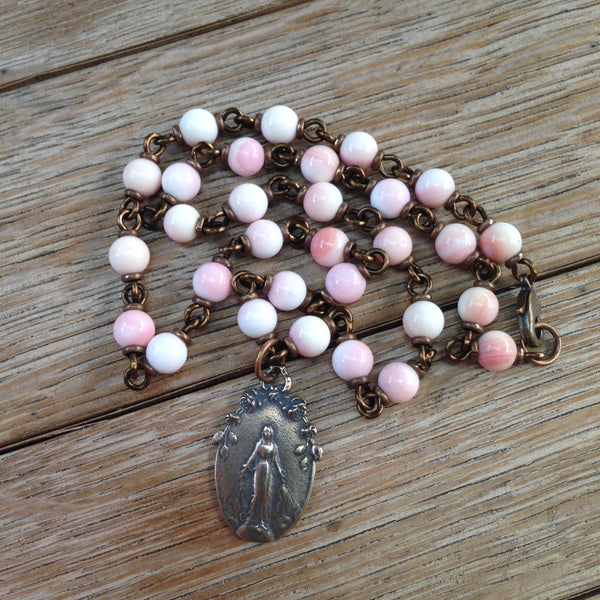 Bronze Miraculous Medal Necklace