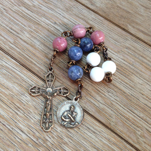 Bronze St Gerard Chaplet, expectant mother gift