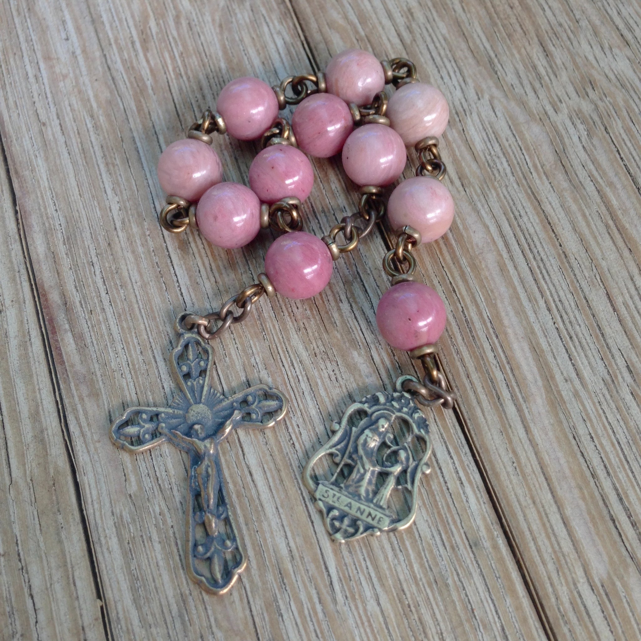Bronze Anne pocket rosary