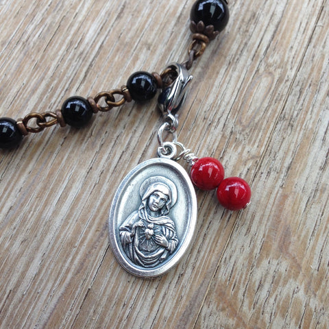 Immaculate Heart of Mary Rosary Marker