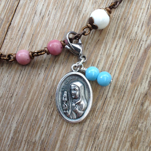 St. Clare of Assisi Rosary Marker