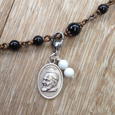 St. Padre Pio Rosary Marker