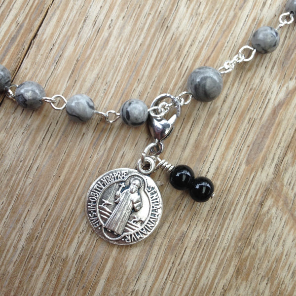 St. Benedict Rosary Marker