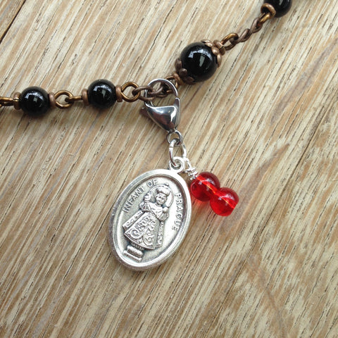 Infant of Prague Rosary Marker