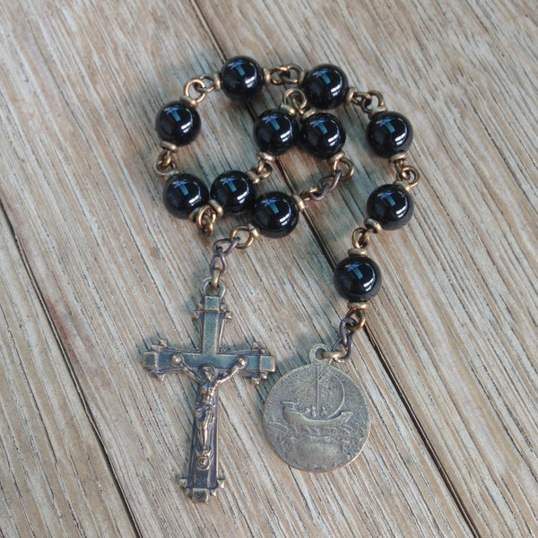 Bronze St. George pocket rosary