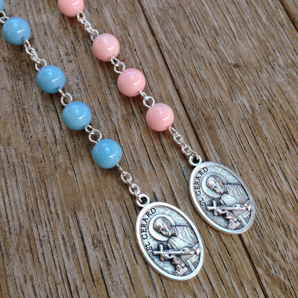 Blue and pink St. Gerard chaplet