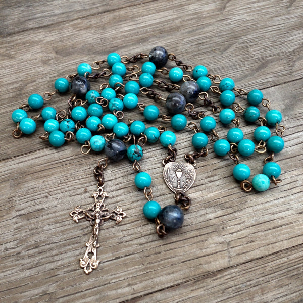 Holy Communion Bronze Rosary