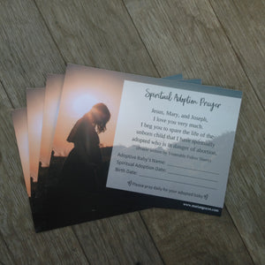 Spiritual Adoption Prayer Card