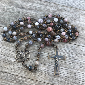 Custom rosary for Karen