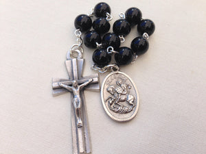 Black St George pocket rosary