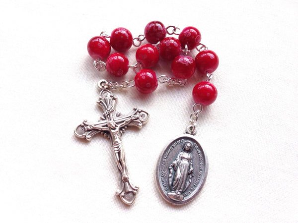 Red pocket rosary