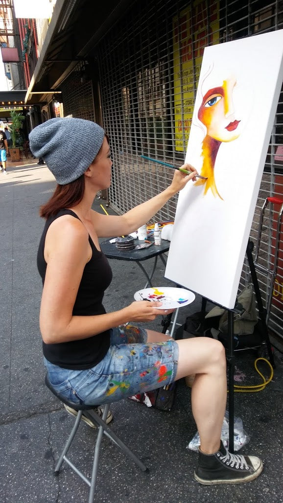 Painting in Downtown Los Angeles