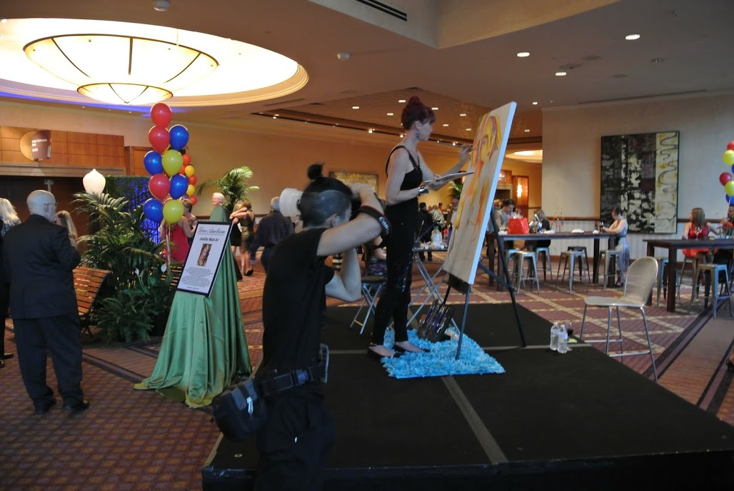 "Painting at ""Spread The Word NV"" Gala at the MGM, Las Vegas, NV"