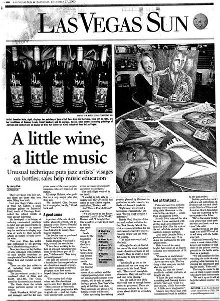 Jennifer Main Wine Bottle Article