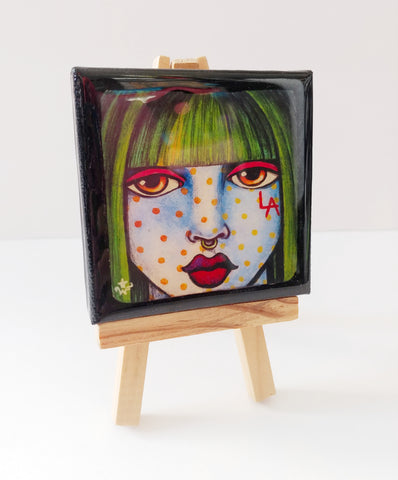"""LA Girl"" Mini Canvas with Easel"