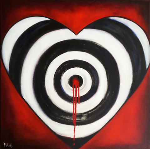 Aim For Love | 22x22 Original