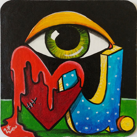 "I Love You. | 4"" × 4"" Original"
